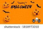 halloween sale promotion poster ... | Shutterstock .eps vector #1818973310