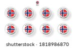 labeling   made in norway. flat ... | Shutterstock .eps vector #1818986870
