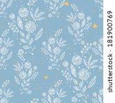 vintage floral seamless pattern....   Shutterstock .eps vector #181900769