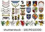 vector heraldic set of... | Shutterstock .eps vector #1819010330