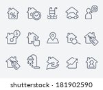 real estate icons | Shutterstock .eps vector #181902590