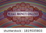 make money online text inside... | Shutterstock .eps vector #1819035803