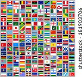 216 flags of world  flat vector ... | Shutterstock .eps vector #181903706