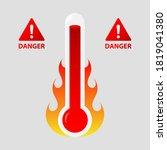danger high temperature...   Shutterstock .eps vector #1819041380