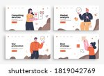 set of presentation slide... | Shutterstock .eps vector #1819042769