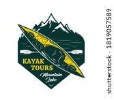 vector kayak tours logo with...   Shutterstock .eps vector #1819057589