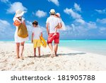 back view of a happy family on... | Shutterstock . vector #181905788