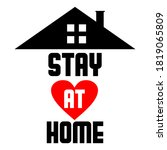 vector logo  stay at home... | Shutterstock .eps vector #1819065809