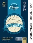 vector sheep's milk blue cheese ...   Shutterstock .eps vector #1819070420