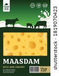 vector maasdam cheese packaging ...   Shutterstock .eps vector #1819070423