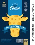 vector cheese packaging with...   Shutterstock .eps vector #1819070426