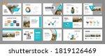 presentation slide layout...   Shutterstock .eps vector #1819126469