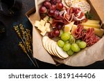 Cheese and meat assortment in a ...