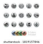 ecology and renewable energy... | Shutterstock .eps vector #1819157846