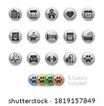 hotel and rentals icons 2 of 2  ... | Shutterstock .eps vector #1819157849
