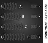 black elements of infographic. | Shutterstock .eps vector #181916420