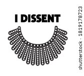 I Dissent Vector Concept On...