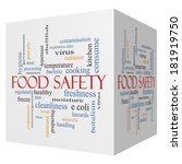 food safety 3d cube word cloud... | Shutterstock . vector #181919750