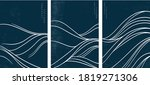 japanese wave pattern with... | Shutterstock .eps vector #1819271306
