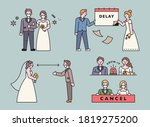 problems in weddings due to... | Shutterstock .eps vector #1819275200