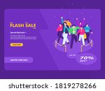 flash sale and grand opening... | Shutterstock .eps vector #1819278266