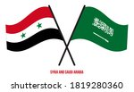 syria and saudi arabia flags... | Shutterstock .eps vector #1819280360