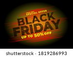 black friday sale discount with ... | Shutterstock .eps vector #1819286993