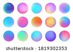 vivid gradient circle set....