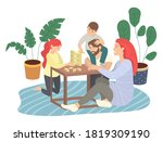 father  mother  son  daughter... | Shutterstock .eps vector #1819309190