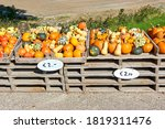 Gourds For Sale At A Farmers...
