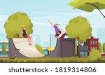 outdoor activities with urban...   Shutterstock .eps vector #1819314806