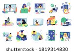 online education set with... | Shutterstock .eps vector #1819314830