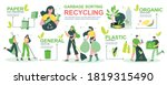 garbage recycling infographics... | Shutterstock .eps vector #1819315490