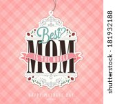 vintage happy mothers day... | Shutterstock .eps vector #181932188