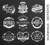 vintage happy mothers day... | Shutterstock .eps vector #181932470