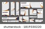 set of creative wave design web ...   Shutterstock .eps vector #1819330220