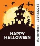 happy halloween poster of... | Shutterstock .eps vector #1819332263