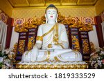 White Buddhist Statue Buddhist...
