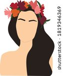 abstract woman with wreath... | Shutterstock .eps vector #1819346369