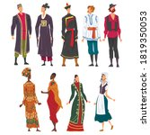 people in national lothing set  ... | Shutterstock .eps vector #1819350053