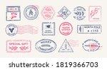 Winter Vintage Stamps  Mail...