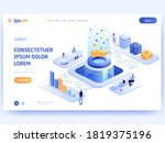 information flow. data... | Shutterstock .eps vector #1819375196
