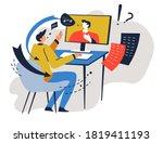 people using online application ... | Shutterstock .eps vector #1819411193