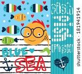 funny fish vector illustration | Shutterstock .eps vector #181941914