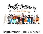 halloween party background ... | Shutterstock .eps vector #1819426850