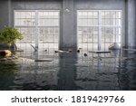 flood water  flooding interior... | Shutterstock . vector #1819429766