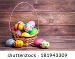 Easter Eggs In The Basket Of...