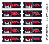 coupon black friday with 10 20... | Shutterstock .eps vector #1819433516