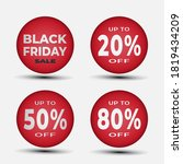 black friday button template... | Shutterstock .eps vector #1819434209