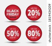 black friday button template... | Shutterstock .eps vector #1819434209